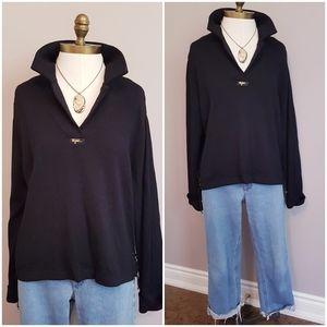 ⚓ St John black slouchy nautical sweater - S/M